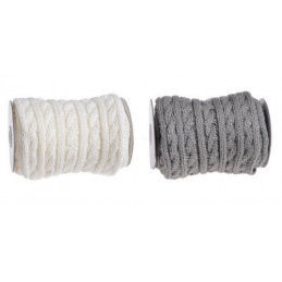 Rolka wełny we wzorek na drutach 2 m - szal