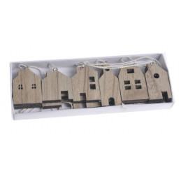 Domek-zawieszka, zestaw 12szt_21x7.5x2 cm