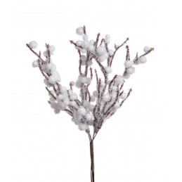 Pik z ośnieżonymi kuleczkami 6szt-pęczek 18 cm