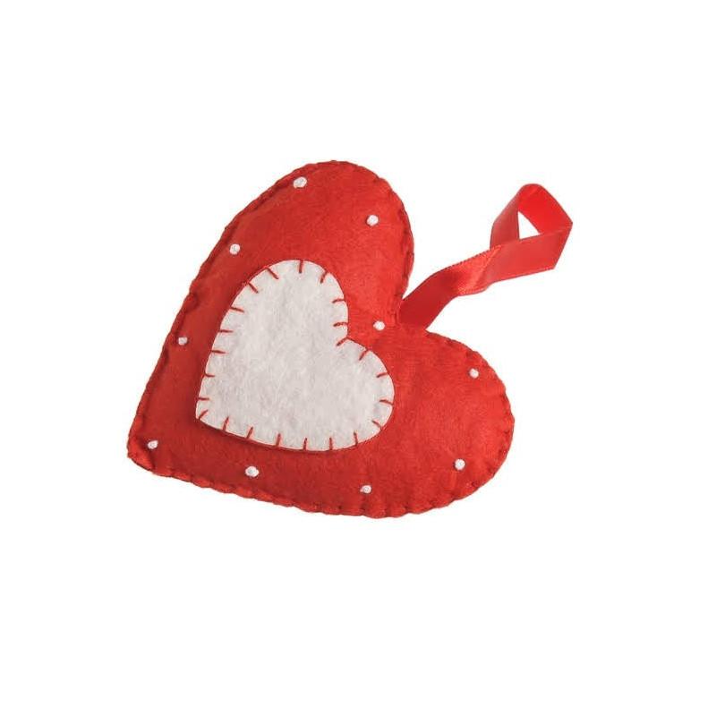 Serce zawieszka z filcu 2szt-paczka 9,5cm