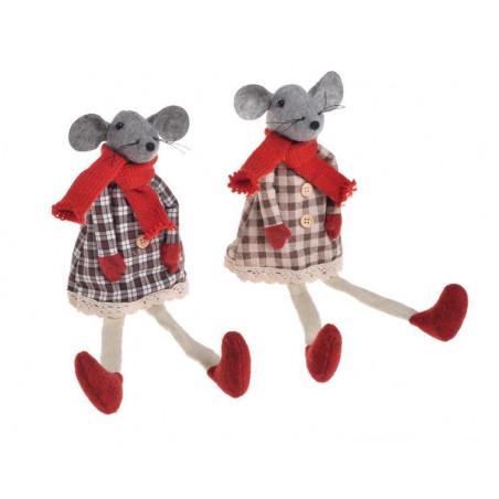 Mysz w sukience..33 cm MIX