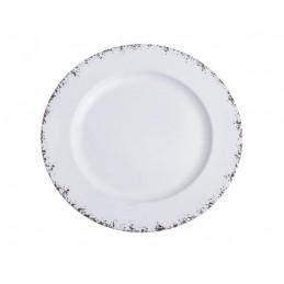 Talerz dekoracyjny rustykalny 28 cm WHITE..28x28x2 cm