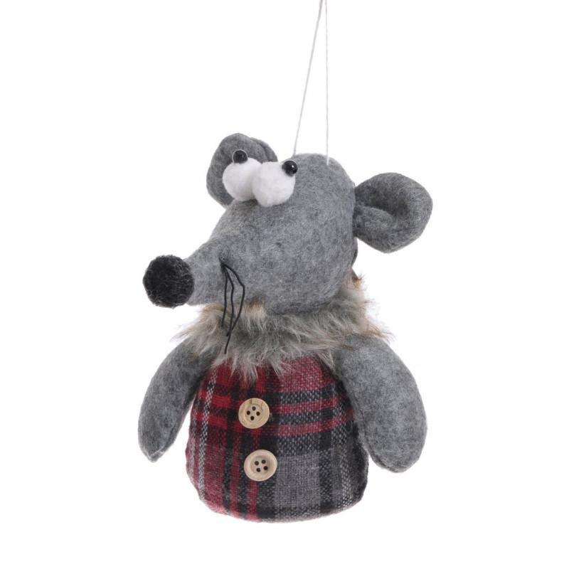 Mysz zawieszka 15 cm - art. dekoracyjny