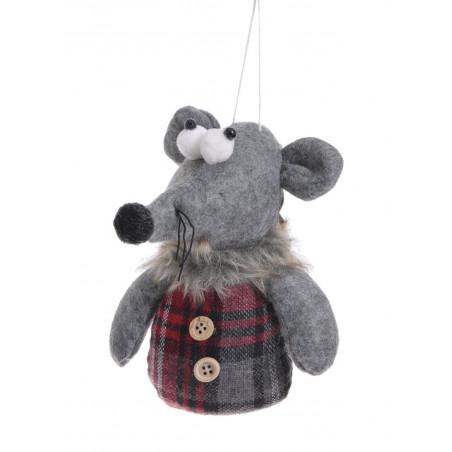 Mysz zawieszka 15 cm - art. dekoracyjny MIX