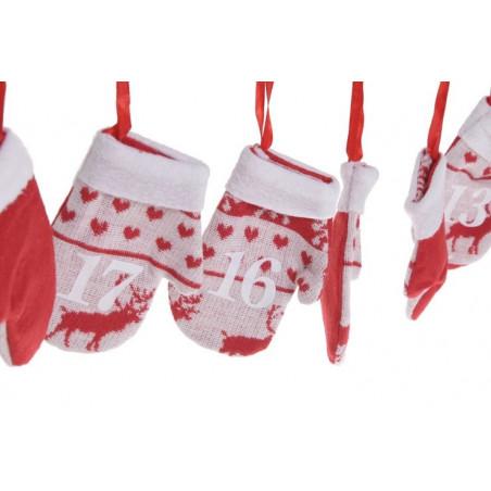 Girlanda kalendarz adwentowy rękawiczki 215 cm - super dekoracja zimowa
