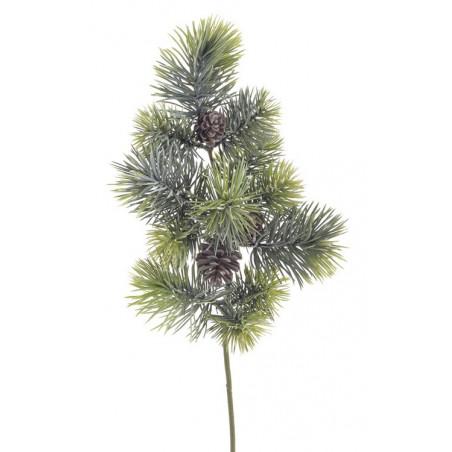 Gałązka iglasta z szyszką ..54 cm - sztuczna roślina