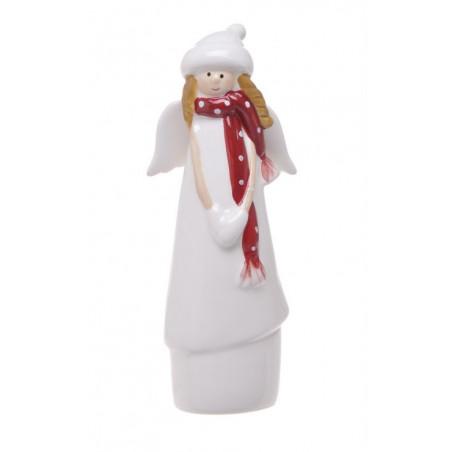 Aniołek w czapce 16 cm - ceramika