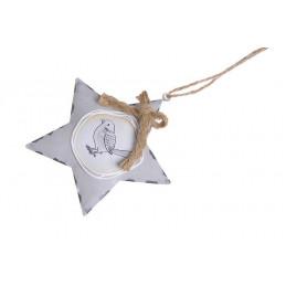Gwiazda zawieszka 10 cm - blacha