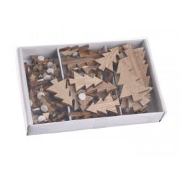 Choinki naklejki w pudełku, 72szt_11x7x2 cm