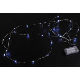 Lampki 30 LED 3m -światło zimne lub ciepłe,  zasilane 2AA