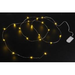 Lampki 50 LED 5 m , światło zimne,  zasilane 3AA