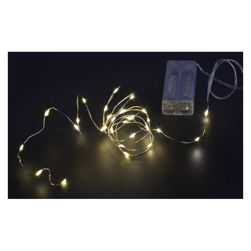 Lampki ledowe 30L,150cm+30cm, zasilanie 2AA