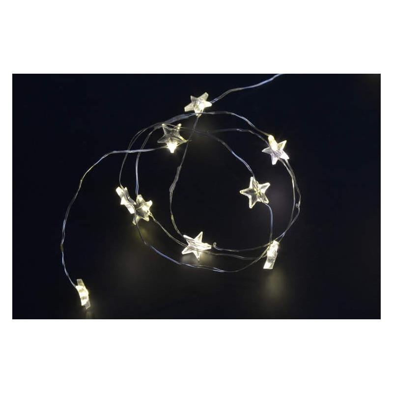 Lampki ledowe gwiazdki 40L, 30 cm