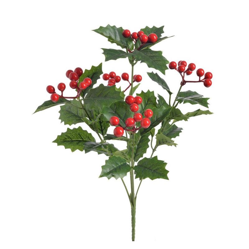 Bukiet ostrokrzewu..32cm - sztuczna roślina