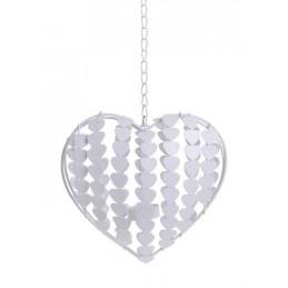 Serce w serca L20x8x52 cm - zawieszka metalowa