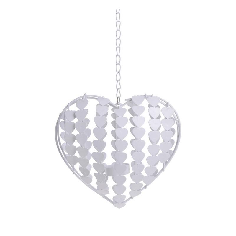 Serce w serca L_20x8x52 cm - zawieszka metalowa