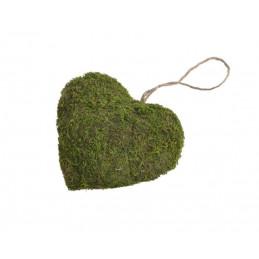 Serce 16x16 cm - wyrób z mchu
