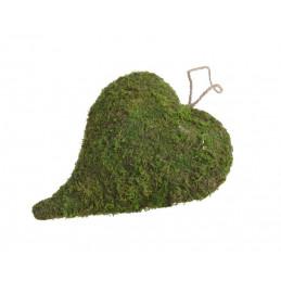 Serce 15x22cm - wyrób z mchu