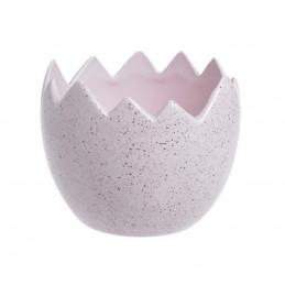 Marmurkowa osłonka skorupka 12x10 cm - wyrób ceramiczny