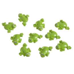Naklejki żaby 10szt-kpl..2,5cm