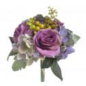 Bukiet róż z hortensją 28cm
