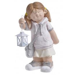 Dziewczynka z latarnią 50cmH - wyrób ceramiczny