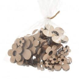 Kwiatuszki naturalne mix, 30szt/paczka 7cm, 5cm, 2,5cm