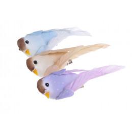 Ptaszki 10cm na klipie 3szt