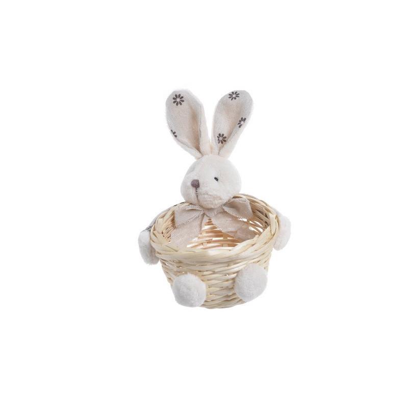 Koszyczek z króliczkiem..17x12 cm