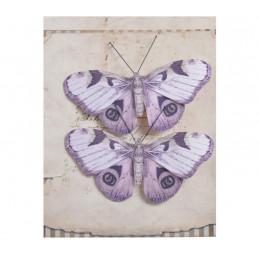 Motyl na klipie 2szt..4,5 cm