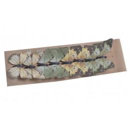 Motyl na klipie 8szt/kpl..6cm