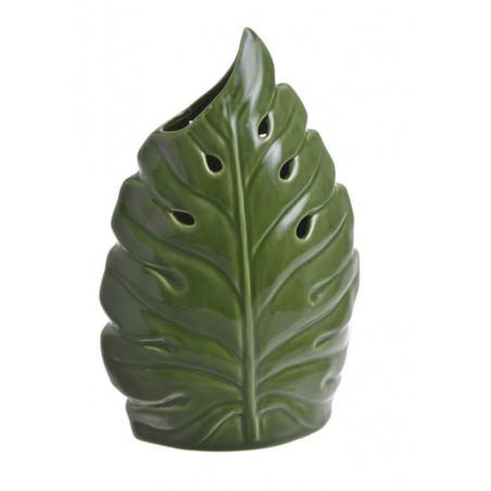 Wazon liść 25cmH - wyrób ceramiczny