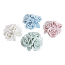 Bukiet 3x róża ceramiczna 6cm. 3szt/kpl