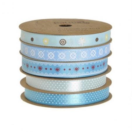 Wstążka dekoracyjna 5 kol-kpl 5 m BLUE
