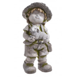 Chłopiec z owieczką 45 cmH - ceramika