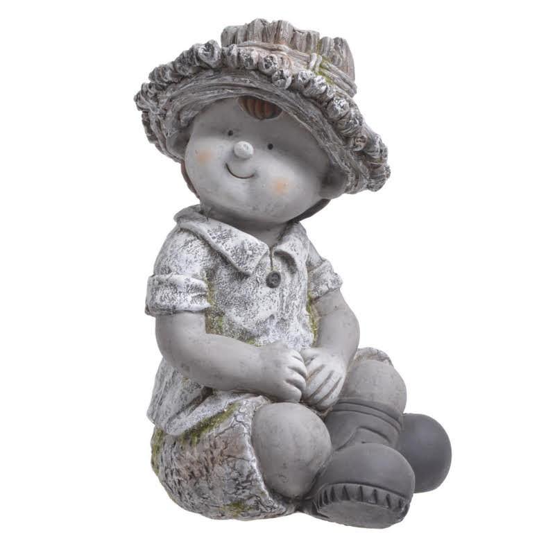 Chłopiec siedzący 35 cmH- ceramika