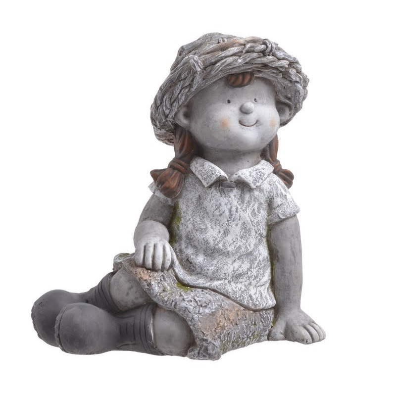 Dziewczynka siedząca 33 cm H- ceramika