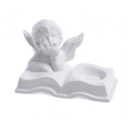 Aniołek tealight 12cm -ceramika