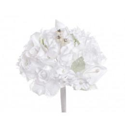 Bukiecik mieszany z różą..25 cm