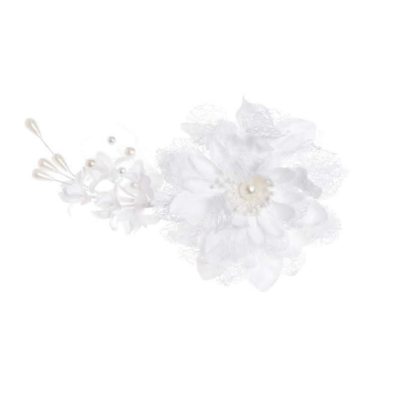 Butonierka z dużym kwiatem KLIP..20 cm