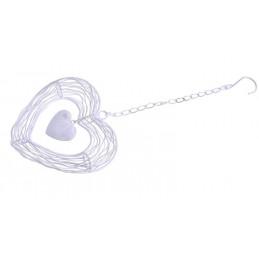 Metalowe serce - zawieszka 15 cm - artykuł dekoracyjny
