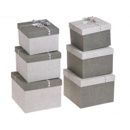 Pudełko kwadratowe 4szt/kpl