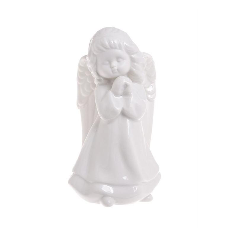 Aniołek ceramiczny szkliwiony - figurka 16 cm