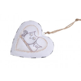 Serce zawieszka 10 cm - metal