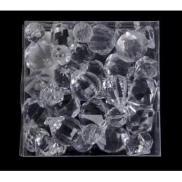 Przezroczyste diamenty 300g 2-4 cm