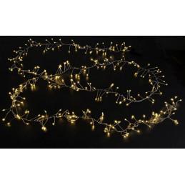 Lampki 300 LED 3m, zasilane 12V - światło ciepłe