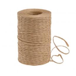 Sznurek papierowy z drucikiem naturalny 200 m