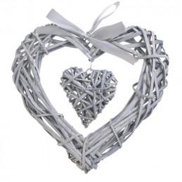 Serce z wikliny 12cm, 30cm, 2szt-kpl