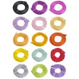 Rattan kolorowy 1.5 mm, 75 g MIX KOLORÓW