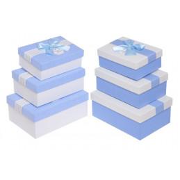 Pudełka 3szt-kpl BLUE/WHITE